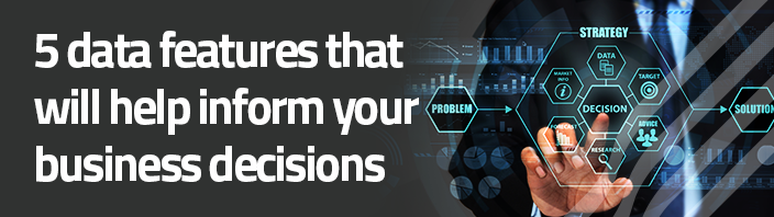 Data can inform business decisions